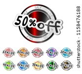 colorfull sale stickers  with... | Shutterstock .eps vector #1158476188