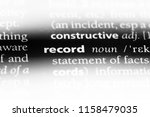 record word in a dictionary.... | Shutterstock . vector #1158479035