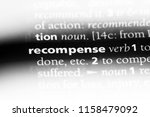 Small photo of recompense word in a dictionary. recompense concept.