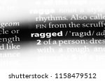 ragged word in a dictionary....   Shutterstock . vector #1158479512