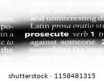prosecute word in a dictionary. ... | Shutterstock . vector #1158481315