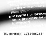 preceptor word in a dictionary. ...   Shutterstock . vector #1158486265