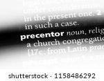 Small photo of precentor word in a dictionary. precentor concept.