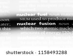 nuclear fusion word in a... | Shutterstock . vector #1158493288