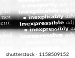 Small photo of inexpressible word in a dictionary. inexpressible concept.