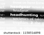 headhunting word in a... | Shutterstock . vector #1158516898