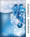 Christmas Blue Silver Card ...