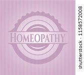 homeopathy retro style pink... | Shutterstock .eps vector #1158572008