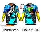 long sleeve motocross jerseys t ...   Shutterstock .eps vector #1158574048