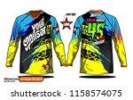 long sleeve motocross jerseys t ...   Shutterstock .eps vector #1158574075
