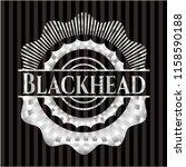 blackhead silver badge or emblem | Shutterstock .eps vector #1158590188