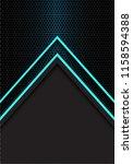 abstract blue arrow light... | Shutterstock .eps vector #1158594388