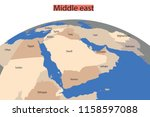 map of the greater middle east. ... | Shutterstock .eps vector #1158597088