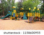 colorful playground with green... | Shutterstock . vector #1158600955