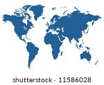 illustrated blue map of the... | Shutterstock . vector #11586028