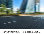 city empty traffic road with... | Shutterstock . vector #1158616552