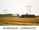 summer yellow field  | Shutterstock . vector #1158616735