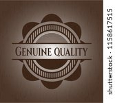 genuine quality wooden emblem.... | Shutterstock .eps vector #1158617515