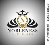 letter n logo   classic...   Shutterstock .eps vector #1158618628