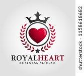 royal heart logo template   Shutterstock .eps vector #1158618682