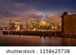 manhattan skyline   waterfront...   Shutterstock . vector #1158625738