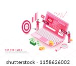 pay per click concept based... | Shutterstock .eps vector #1158626002