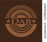 dab retro wooden emblem | Shutterstock .eps vector #1158626665