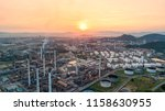 industrial view at oil refinery ... | Shutterstock . vector #1158630955