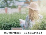 blurred photo a young girl in a ... | Shutterstock . vector #1158634615