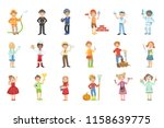 kids with their future... | Shutterstock .eps vector #1158639775