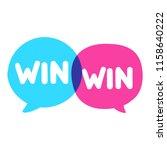 win win concept. vector... | Shutterstock .eps vector #1158640222
