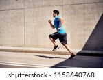 city workout concept. athletic...   Shutterstock . vector #1158640768