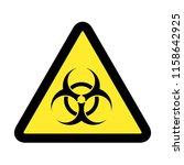 biological hazard. danger virus ... | Shutterstock .eps vector #1158642925