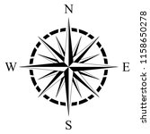 Compass Rose Vector On An...