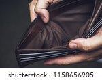 wallet empty money broke cash ... | Shutterstock . vector #1158656905
