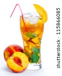 Glass Of Fruit Iced Tea On...