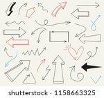 set of arrow doodle design...   Shutterstock .eps vector #1158663325