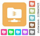 ftp compression flat icons on... | Shutterstock .eps vector #1158665425