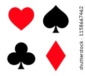set of playing card symbols.... | Shutterstock .eps vector #1158667462