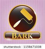 shiny badge with roller brush... | Shutterstock .eps vector #1158671038