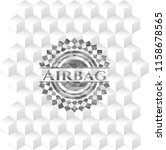 airbag grey emblem. retro with... | Shutterstock .eps vector #1158678565