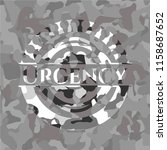 urgency grey camo emblem | Shutterstock .eps vector #1158687652