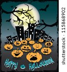 halloween card vector... | Shutterstock .eps vector #115868902