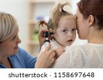 child's otolaryngologist doing... | Shutterstock . vector #1158697648