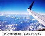 himalayas mountains landscape... | Shutterstock . vector #1158697762