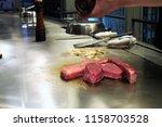 aug.8.2018  original teppanyaki ... | Shutterstock . vector #1158703528