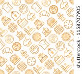 bakery seamless pattern with... | Shutterstock .eps vector #1158707905