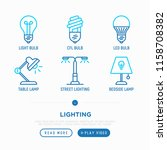 lighting thin line icons set ... | Shutterstock .eps vector #1158708382