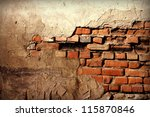 brick old wall texture for... | Shutterstock . vector #115870846