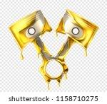 realistic engine pistons... | Shutterstock .eps vector #1158710275
